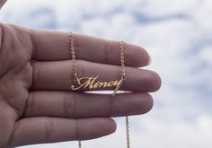 Personalized Name Necklace Handcrafted Name by karlasdesign, $34.00