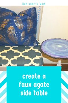 Create A Faux Agate Side Table – Thrift Store Decor Upcycle Our Crafty Mom