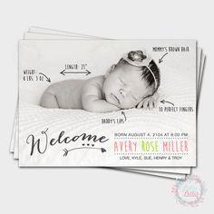 Fun Handwritten Birth Announcement Cards / by PitterPatterParties