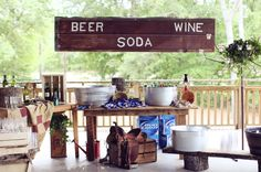 drinks bar, beer, soda, wine, Two Chics Photography