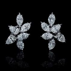 Celebrities who use a Harry Winston Six Stone Cluster Earrings. Also discover the movies, TV shows, and events associated with Harry Winston Six Stone Cluster Earrings. Harry Winston, Diamond Jewelry, Diamond Earrings, Diamond Tops, Diamond Ice, Diamond Stud, Diamond Flower, Bijoux Or Rose, Cluster Earrings