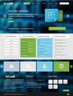 Website creation for Koozali SME Server Comunity - 2013 - France - www.koozali.org