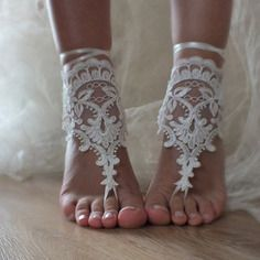 Sandales aux pieds nus plage de mariage mariage de plage d'écran sandales nu-pieds
