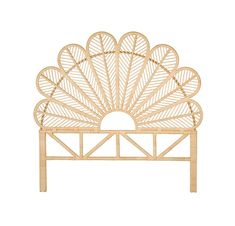 The Rattan Petal Open Frame Headboard was inspired by the lush tropical flowers and foliage found throughout travels. The natural color of this rattan furniture will compliment any home décor palette. Rattan Headboard, Panel Headboard, Rattan Bed Frame, Headboards, Daybed, Ideas Habitaciones, Deco Studio, Murphy Bed Ikea, Rattan Furniture