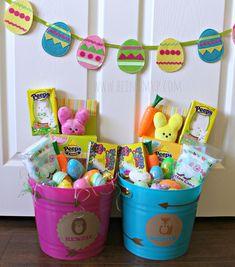 Easter basket happy easter pinterest easter baskets 40 adorable easter basket ideas negle Images