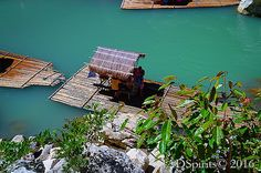 A Family,a Bamboo Raft and the Penaranda River at Minalungao National Park Limestone Wall, Rafting, Bamboo, National Parks, Environment, Marvel, River, Nature, Naturaleza