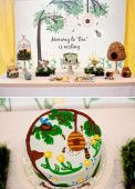 nesting themed dessert table