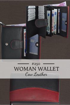 Damenbörse in Rindleder mit vielen Kartenfächern und großem Kleingeldfach.