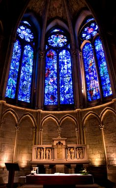 #MarcChagall #Marc-Chagall #Chagall Reims Cathedral stained glass by Marc Chagall.