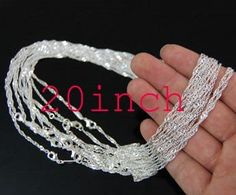 20pcs 15mm X 20inch Water ripple chain 925 sterling by aliyafang, $29.00