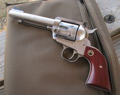 Another shot of that stainless Ruger .44 special...covered in powder residue.