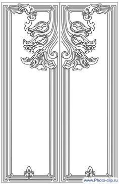 Пескоструйный рисунок Рамка №308