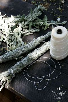Making sage smudge sticks: YAS Dry Sage, Reiki, Smudge Sticks, Witch Aesthetic, Wiccan, Witchcraft, Drying Herbs, Nature Crafts, Herbalism