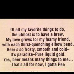Beer Proverb...