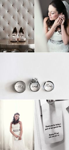 It would be cute to write our names in our rings like this middle picture!