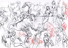 Al Severin - Nudes and Horses, in Rob Stolzer's Severin, Al Comic Art Gallery Room
