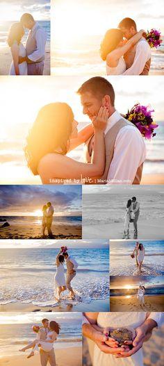 Maui Vow Renewal: Betsy & Jon at Maluaka Beach by Mariah Milan Photography.  This is us!!!  <3 Beach Wedding Photography, Beach Wedding Photos, Wedding Beach, Hawaii Wedding, Wedding Poses, Wedding Portraits, Wedding Engagement, Wedding Ring, Vow Renewal Beach