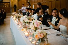 A great table arrangement sets the tone. Courtesy of Jenn & Dave Stark.