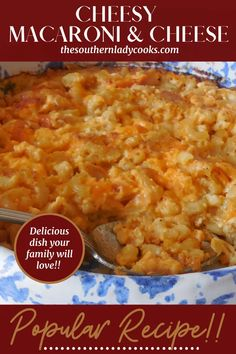 MACARONI AND CHEESE - The Southern Lady Cooks Southern Macaroni And Cheese, Macaroni And Cheese Casserole, Casserole Dishes, Casserole Recipes, Macaroni Pasta, Best Pasta Dishes, Tasty Dishes, Rice Dishes, Main Dishes