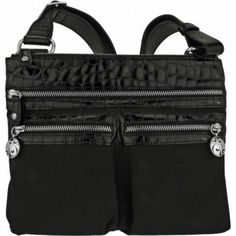 The perfect cross body travel purse: front two pockets are great for camera or phone. Stylish and can be dressed up or down. Both durable and light, with interesting detailing