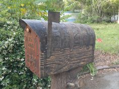 Jumbo size mailbox with cedar door. Metal forging for all of metal details. Special made dark natural rustic woodfinish. Everything made from new wood, metal, and natural beeswax based woodfinish Rustic Mailboxes, Wooden Mailbox, Vintage Mailbox, Diy Mailbox, Wooden Diy, Mailbox Ideas, Rustic Art, Rustic Style, Rustic Decor