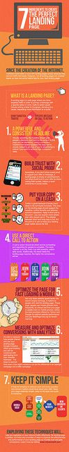 #social media #infographic 7 Ingredients to Create the Perfect Landing Page by Infusionsoft, via Flickr