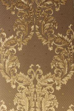 Muster: Barock Retro. Farben: Braun/Gold. Musternummer: 85787. Moderne/klassische Elemente und zeitloses Design für jedermann! Kollektion: Silver Charm. Rollenmaß (LxB) in m: 10,00 x 0,53. | eBay!