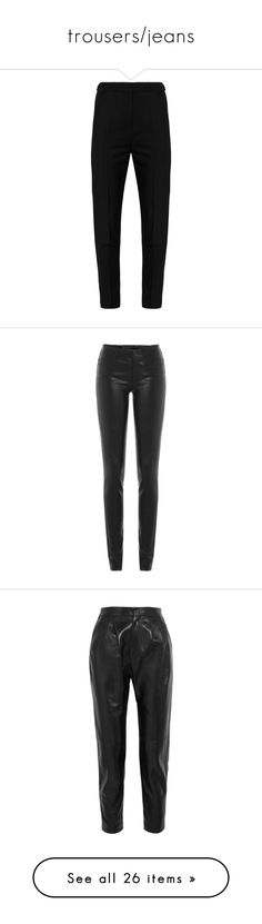 """trousers/jeans"" by katyaluuno ❤ liked on Polyvore featuring pants, trousers, bottoms, acne, jeans, acne studios, tuxedo pants, tapered trousers, tux pants and tuxedo stripe pants"