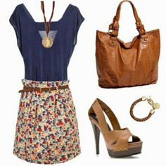 coral and teel outfit - Google Search
