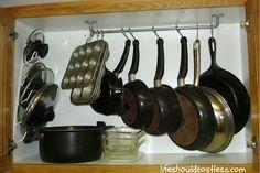 Cupboard Pot Rack