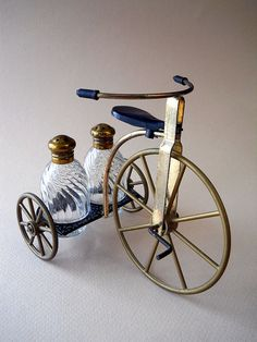 Vintage Tricycle Salt and Pepper Set by whatnotsandsuch on Etsy, $10.00