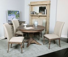 Weatherford Milford Round/Oval Pedestal  Table Dining Room Set | Kincaid | Home Gallery Stores