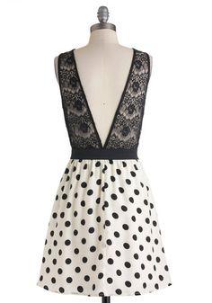 Dot You Look Lovely Dress   Mod Retro Vintage Dresses   ModCloth.com