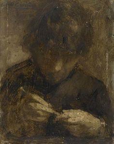 Study Of An Artisan - Eugène Carrière Rennaissance Art, Nocturne, Portrait Art, Portraits, Chiaroscuro, Reproduction, French Art, Artist Art, Figurative Art