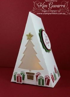 I have a little project to share with you that is so cute and perfect for your Christmas table, or even to add a little pizzazz to your Christmas card display! I used Stampin' Up! Christmas Card Display, Christmas Favors, 3d Christmas, Stampin Up Christmas, Craft Box, Stamping Up, Craft Fairs, Stampin Up Cards, Making Ideas