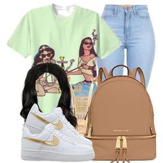 ~Trap Queen~ by nasiaamiraaa on Polyvore featuring polyvore fashion style Disney MICHAEL Michael Kors Rolex Brooks Brothers NanaOutfits