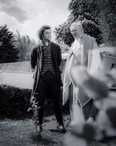 Another fantastic photo of Aidan Turner and Robin Ellis on set in Poldark, taken by Nick Kenyon (@njkfoto on Twitter). From this tweet: https://twitter.com/Poldarked/status/468130733283098624/photo/1
