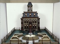 """§§§ . A """"Christmas House"""" Never played with, but intended for display at Christmastime, in place of a tree, to reflect the wealth and talent of the owners who created them. 1870-80"""