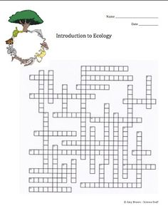 Science Stuff: FREE Ecology Crossword Puzzles
