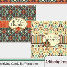 Thanksgiving Printable Candy Bar Wrappers ishareprintables.com