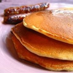 BEST homemade pancake recipe EVER!  And I have made a LOT of pancakes in my day...YUM!