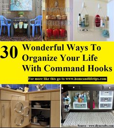 30 Wonderful Ways To Organize Your Life With Command Hooks Organization Station, Diy Organization, Organizing, Command Hooks, Organize Your Life, Home Hacks, Getting Organized, Improve Yourself, Household