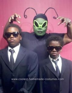 Homemade Men In Black Family Costume: Our family does theme costumes each year, but as the mom of boys...this year we did not agree. They wanted gore, and I wanted cute. So we compromised.