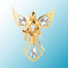 Angel W Baby Hanging Sun Catcher or Ornament With Clear Swarovski Austrian Crystals -- You can find more details by visiting the image link.