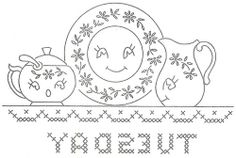 Weekday embroidery patterns