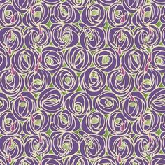 Mackintosh Roses designer gift wrap pattern adapted from a fabric design by Charles Rennie Mackintosh (Scottish, 1868–1928)
