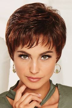 Winner Elite by Raquel Welch Wigs- Monofilament/ Lace Front, hand knotted Short Wavy Pixie, Short Hair With Bangs, Short Blonde, Short Hair Cuts, Pixie Cuts, Trending Hairstyles, Pixie Hairstyles, Hairstyles With Bangs, Pixie Haircuts