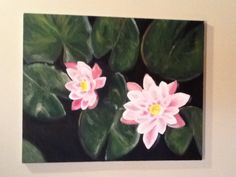 Water lily painting