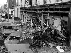 Talbot Street after Dublin bombings. Bobby Sands, Molly Malone, Irish Republican Army, Michael Collins, Dublin City, Photo Engraving, Dublin Ireland, Old Photos, Past