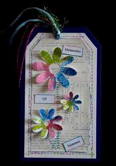 Colour stamped tag